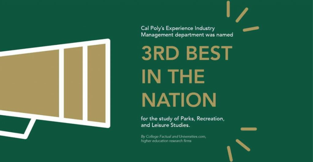 Cal Poly Experience Industry Management Third Best in the Nation